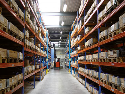 Large spare part warehouse